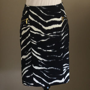 Michael Kors Zebra Print Pencil Skirt